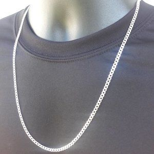 Sterling .925 Silver Cuban Curb Chain